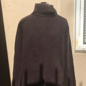 Lands' End brown knitted turtleneck  sweater